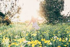 Running through a field of daisies on a summer morning. Ok maybe sometimes