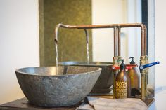 Handmade copper faucet