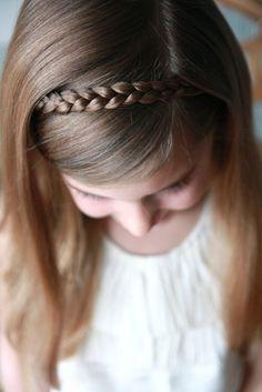 Cute! Sweet simple hair style for little girls - braid headband