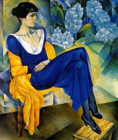 Retrato de la poeta rusa Anna Ajmátova (1889-1966), pintado en 1914 por Natham Altman (1889-1970)