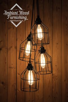 Black Cage Chandelier/pendant light Industrial Aluminium ceiling light, Antique Edison Bulb, Lamp, Rustic Lighting(Etsy のAmbientWoodより) https://www.etsy.com/jp/listing/241796226/black-cage-chandelierpendant-light