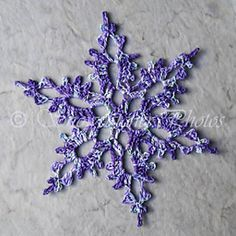 """Enchanted Forest Snowflake pattern, by Deborah Atkinson on Ravelry. Free crochet pattern! >> This is such a lovely snowflake, and the purple color really makes the pattern """"pop."""""""