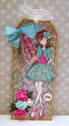 Prima Doll Stamps _ Artfull Crafts - Julie Nutting dolls from Prima Prima Paper Dolls, Prima Doll Stamps, Card Tags, Gift Tags, Cards, Paper Art, Paper Crafts, Dress Card, Handmade Tags