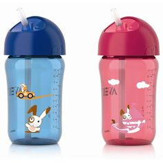 9 Monate+ blau-pink Philips Avent SCF782//17 Trinklernbecher mit Griff 260ml