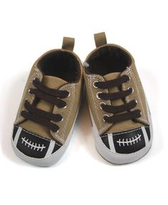 Football Baby Boy Shoes Sneaker with Laces....Love these!