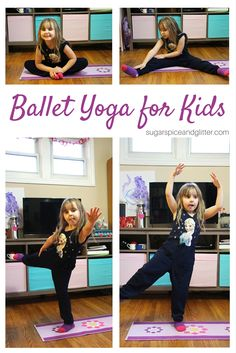 Help kids focus and learn how to control their movements with these simple Ballet Yoga for Kids movements. Yoga is a great way to start the day with kids and there are lots of easy ways to modify yoga to fit your child's abilities as they learn. Toddler Ballet, Ballet Kids, Toddler Yoga, Preschool Behavior, Toddler Preschool, Ballet Poses, Yoga Poses, Yoga For Kids, Exercise For Kids
