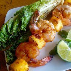 Grilled Chili-Pineapple Shrimp Salad