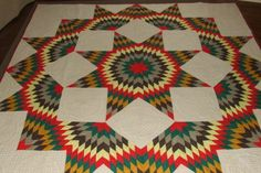 bright colors. I quilted it with