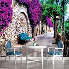 Flowers Photos Wallpaper, Bedroom Wallpaper Colours, Tree Wallpaper Living Room, Photo Wallpaper, Cool Wallpaper, Purple Flower Photos, Purple Flowers, Home Room Design, Abstract Flowers