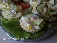 Slané košičky s jarným vajíčkovým šalátom