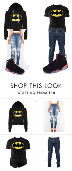 """""""His and Her Batman"""" by sourpatchkid14 on Polyvore featuring Changes and Dsquared2"""