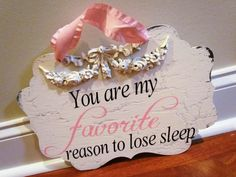 Favorite Reason to lose sleep baby girl by SweetlySpokenShop, $30.00...SWEETNESS!!