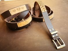 Leather belts.  Decorated with a wildlife theme for the wildlife enthusiasts or a golf theme for the golfers.  Ideal gift for anyone!!!  Other themes can be applied on special request.  Branding can also be done on the belts.  Visit www.alloutcreations.co.za