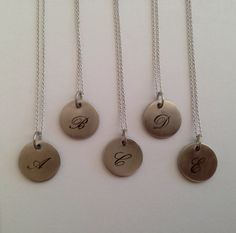 Beautiful engraved necklaces in silver