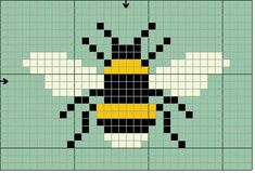 Bee cross stitch.