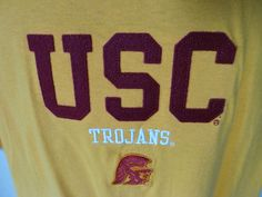 USC TROJANS SOUTHERN CAL New Yellow Gold NCAA Tee T Shirt Extra Large XL NWT #USC
