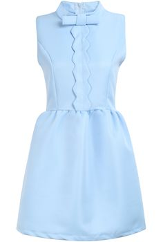 Blue Sleeveless Bowknot Front Flare Dress 20.00