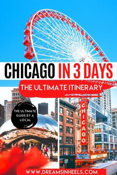 Looking for the perfect 3 day Chicago Itinerary? Chicago is one of America's most iconic cities and there are plenty of amazing things to do. This post will help you to get the most out of your visit with a list of the best things to do in Chicago in three days. This 3 days in Chicago itinerary is curated by a local. | Chicago aesthetic | Chicago skyline | Chicago photography | Chicago itinerary | Visit Chicago travel tips | USA Travel | visit Chicago food | visit Chicago things to do…