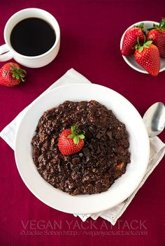 Chocolate-Covered Strawberry Oatmeal by Yack_Attack, via Flickr
