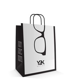 Y2K Optics Paper Bag Design on Behance