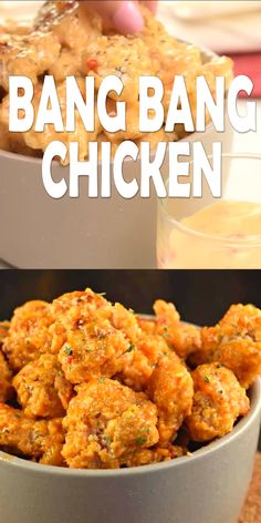 Bang Bang Chicken is an easy, weeknight dinner idea with a tangy, yet sweet sauce! This recipe calls for baking NOT frying the chicken, easy clean up! Bang Bang Chicken, Chicken Nuggets, Fried Chicken, Sweet Sauce, Frites, Man Food, Sans Gluten, Crockpot Recipes, Chicken Recipes