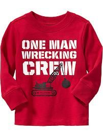 Wrecking Crew Graphic Tees for Baby