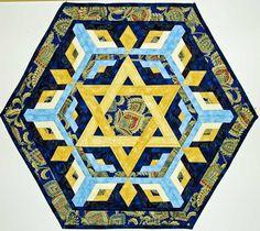 Star+of+David+Quilt+Pattern | Star of David Hanukkah Quilt - Rachael's Star
