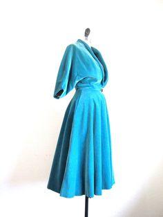 blue velvet princess coat