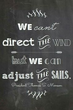Adjust the sails...