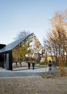 Mirror House in Copenhagen, Denmark Interactive architecture Architecture Durable, Amazing Architecture, Landscape Architecture, Architecture Design, Interactive Architecture, Ancient Architecture, Sustainable Architecture, House Of Mirrors, Nova Deli