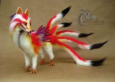 Ayumu the Dragon Kitsune Room Guardian by AnyaBoz.deviantart.com on @DeviantArt