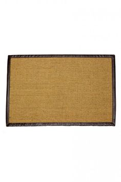 Rugged and refined, this doormat is an easy addition to any door front. Natural sisal mat is bordered by double-stitched leather in brown. ----- About the shop: HACIENDA Austin showcases locally sourced and globally inspired custom furnishings and curated gifts for the modern ranch lifestyle. We offer a fresh, distinctive aesthetic that puts a contemporary urban spin on classic ranch-style design. Motivated by travels that took her from the Outback to the Arctic, our founder, Jessica…