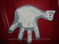 handprint polar bear Polar bear...what do you see?  Extend with other handprint art!