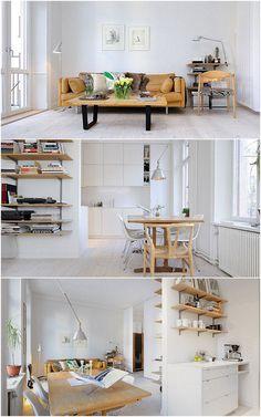 Decoración de monoambientes: estilo escandinavo y muebles de diseño | EstilosDeco