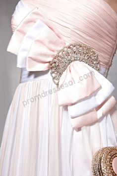 Pink Strapless A-line Tencel Formal Party Dress-510