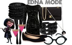 """""""Edna Mode from The Incredibles"""" by likeghostsinthesnow ❤ liked on Polyvore"""