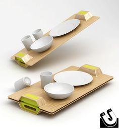Breakfast in Bed: Magnetic Serving Tray by Ryan Jongwoo Choi
