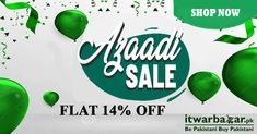 Get 14% off on all products at itwarbazar.pk with FREE SHIPPING over Rs. 2000 order