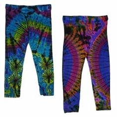 Fab and funky addition to any outfit!  Short Tie Dye Leggings from Mystical Mayhem Hippy Clothing  https://www.hippyclothinguk.co.uk/product-category/tie-dye-clothing/short-tie-dye-leggings-tie-dye-clothing/