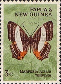 Papua New Guinea 1966 Butterflies SG 83 Fine Mint Scott 210 Other Papua Stamps HERE