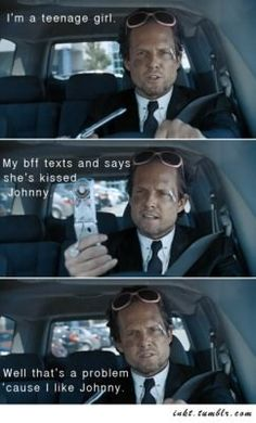 "Love the Mayhem guy from AllState commercials!.. This is my fav, "" now I'm emotionally compromised"