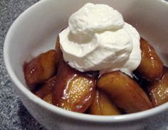 Crock Pot Cinnamon Apples  6 tart apples, cored, sliced and peeled, 1 cup raisins, 1/2 cup sugar, 1/4 cup packed brn sugar, 1/2 TBLS cinnamon, 1/8 teas nutmeg, 3 TBLS cornstarch, 2 TBLS butter slices  1.Put all ingredients EXCEPT BUTTER into crock pot; stir well, coating all apple slices, and place slices of butter on top.   2.Cook on HIGH for 1-1/2 to 2 hours OR cook on LOW 3-1/2 to 4 hours, stirring once half way through.   3.Serve and enjoy!