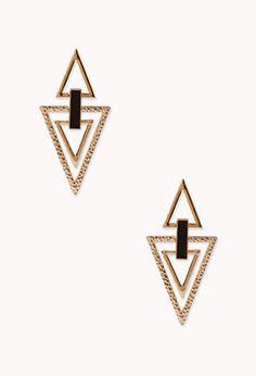 Angular Cutout Drop Earrings