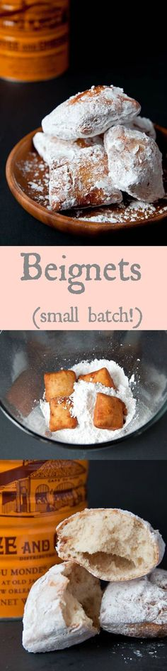 Beignets made from scratch! Just like Cafe du Monde.Beignets made from scratch! Just like Cafe du Monde. Desserts Français, Delicious Desserts, Dessert Recipes, Yummy Food, Small Desserts, French Desserts, French Food Recipes, Awesome Desserts, Plated Desserts