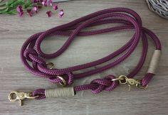 Hundeleine TAU - mehrfach verstellbar von Doggywelt auf Etsy Messing, Beaded Necklace, Personalized Items, Etsy, Jewelry, Basic Colors, Linen Fabric, Handmade, Silver