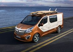 Opel has revealed the lifestyle oriented Vivaro Surf Concept which will be showcased at the 2015 Frankfurt Motor Show, based on the Vivaro passenger version. Surf Design, Van Design, Vauxhall Vivaro Camper, Nissan, Automobile, Vanz, Van Wrap, Day Van, Camper Van Conversion Diy