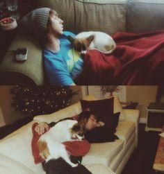OMG this is sooooo cute. He loves his dog so much