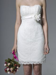 Rehersal & Reception dancing dress? US $ 189 -  Strapless Lace Column Dress -  forherandforhim.com