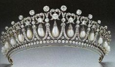 The tiara given to Lady Diana Spencer as a wedding gift from Queen Elizabeth II.