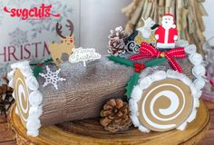 Christmas Yuletide Log Cake Gift Box by Thienly Azim | SVGCuts.com Blog